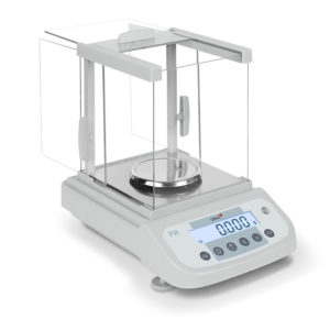 scale with glass weighing chamber