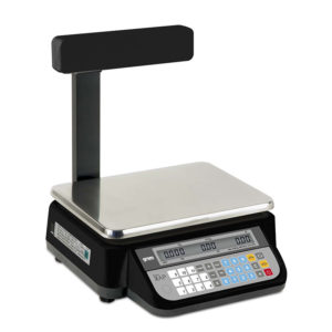 Bench commercial scale with a column